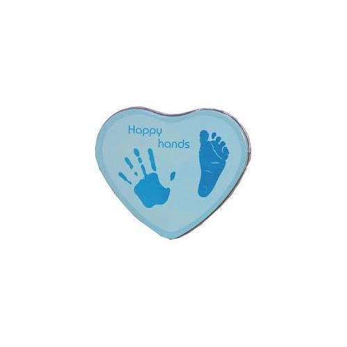 Boîte d'empreinte Happy Hands bleue