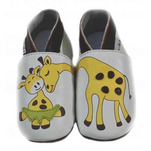 Chaussons en cuir Girafe