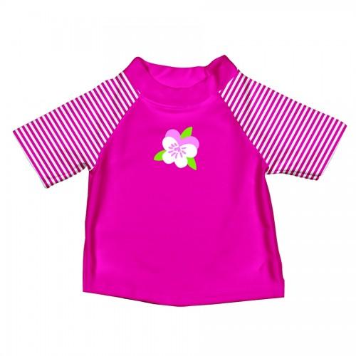 T-shirt de bain vert et rose