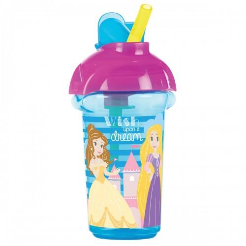 Tasse avec paille à rabat princesse Disney