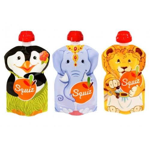 3 gourdes réutilisilisables Squiz Sophie la Girafe