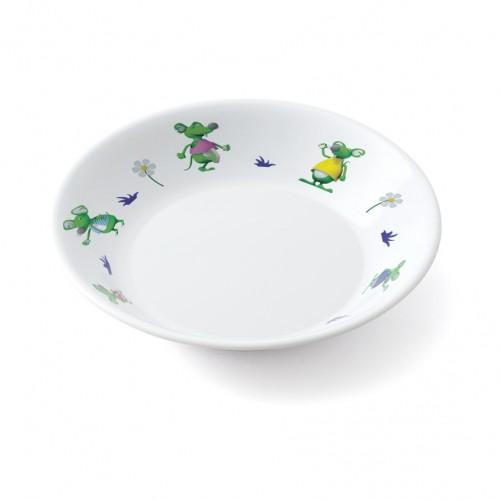 Plateau/assiette à 3 compartiments  une souris verte