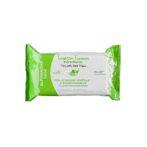 Lingettes viscose bio-dégradable 3 packs 72 pce