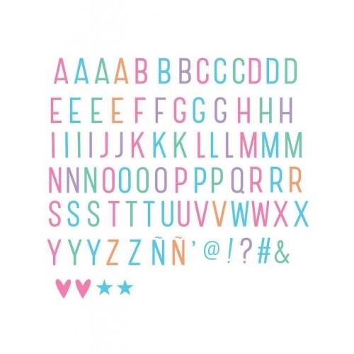 Set lettres pastels pour lightbox
