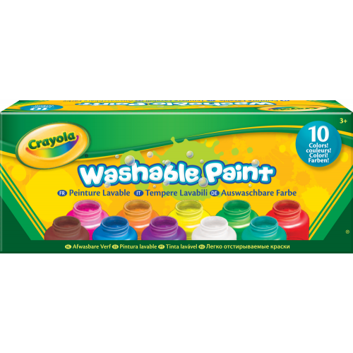 10 pots de peinture lavable