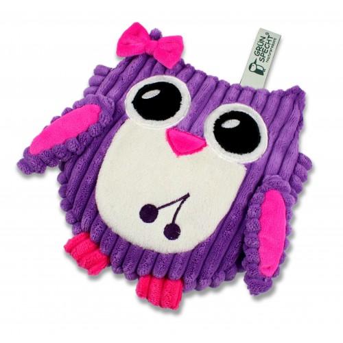 Hibou sac noyaux de cerises violet