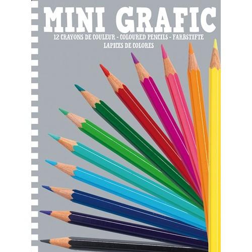 Mini Grafic 12 crayons de couleurs