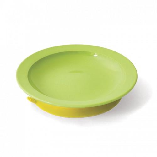 Assiette creuse à ventouse Vert