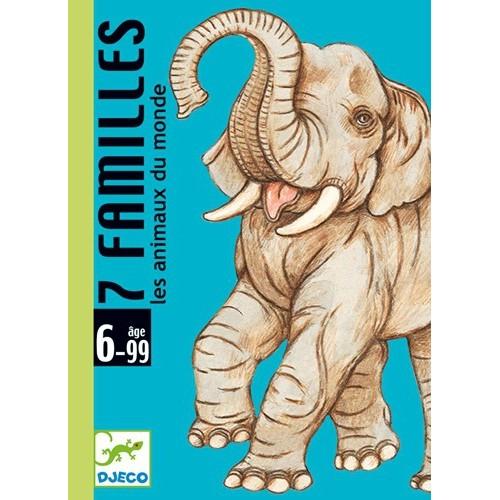 Jeux de cartes 7 familles Animaux