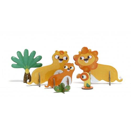 Puzzle 3D Lions