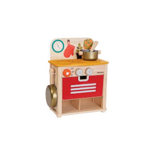 Cuisinière en bois et accessoires