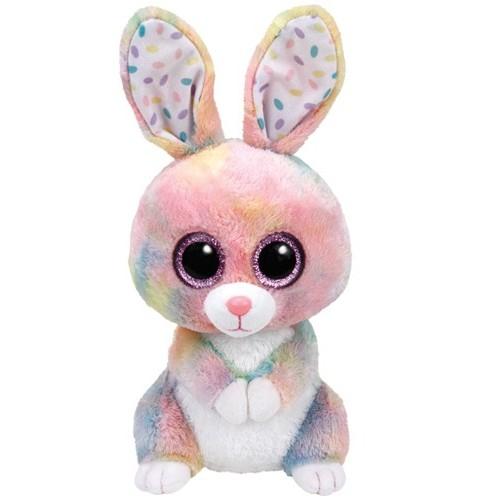 Peluche Bubby,lapin multicolor 24cm