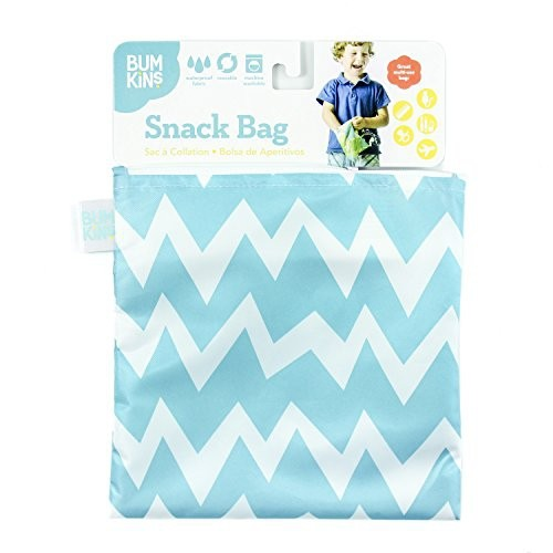 Snack bag chevron bleu