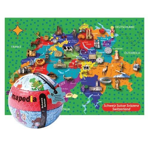 Mapedia Puzzle de la Suisse 100 pièces