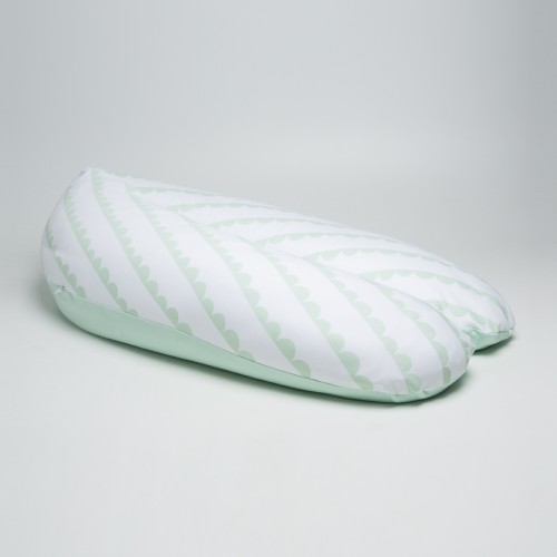 Coussin d'allaitement motifs blanc et vert