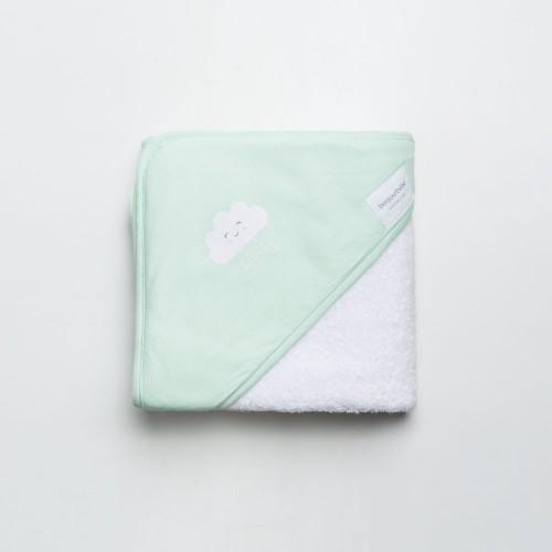 Linge cap de bain nuage vert