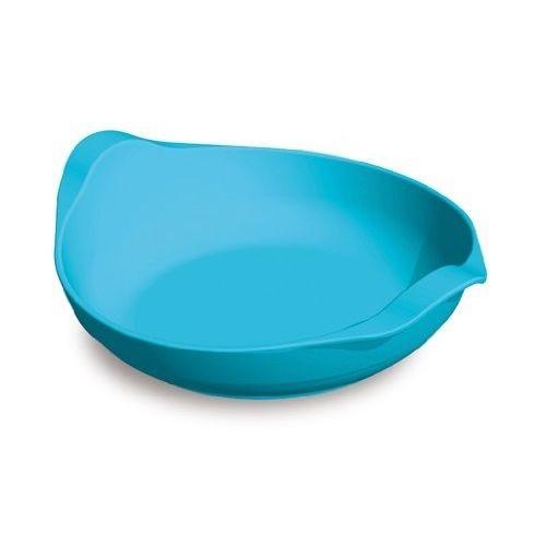 Assiette creuse bleue
