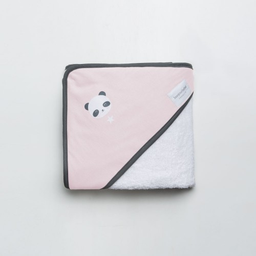Linge cap de bain panda rose