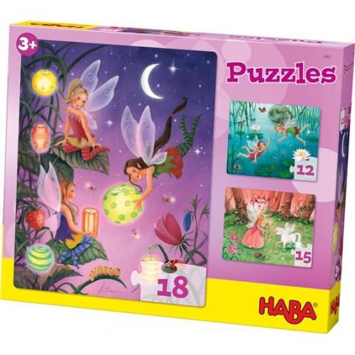Puzzle 3 en 1 thème Les Fées