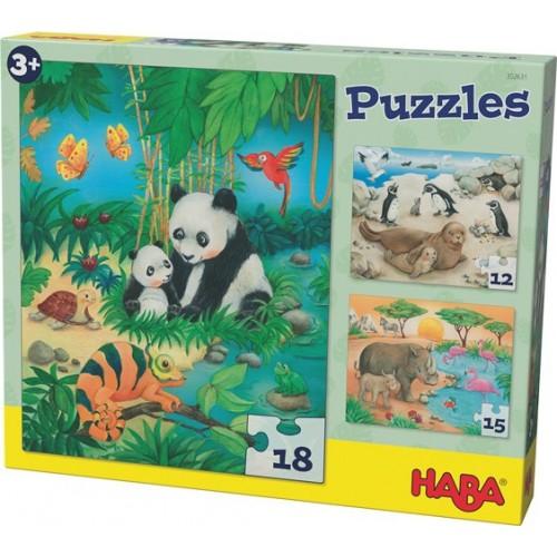 3 puzzles en 1 thème les animaux