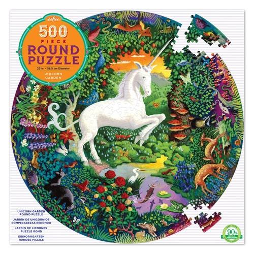 Puzzle Rond, licornes 500 pièces