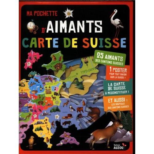 MA POCHETTE D'AIMANTS : CARTE DE SUISSE