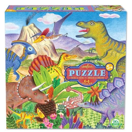 Puzzle, dinosaures 64 pièces de Eeboo