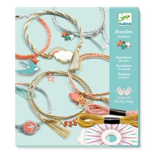 Kumihimo Céleste kit de bracelets