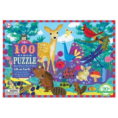 Puzzle la vie sur la terre 100 pièces de Eeboo