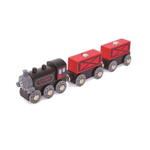 Train à vapeur et wagons
