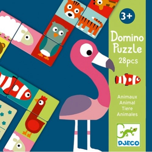 Educatif Domino Animo-puzzle