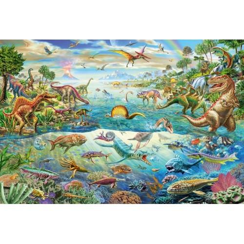 Découvre les dinosaures puzzle de 200 pièces
