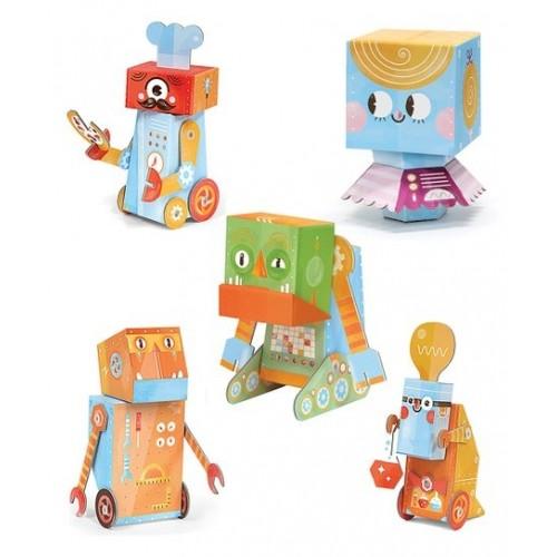 Pack de 5 robots à assembler