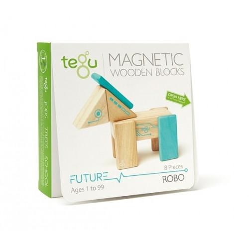 Robo, blocs en bois magnétiques, 8 pièces