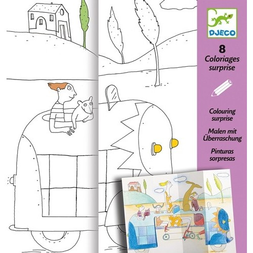 Coloriages surprises Cache cache
