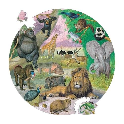 Puzzle Rond faune l'Afrique 1000 pièces