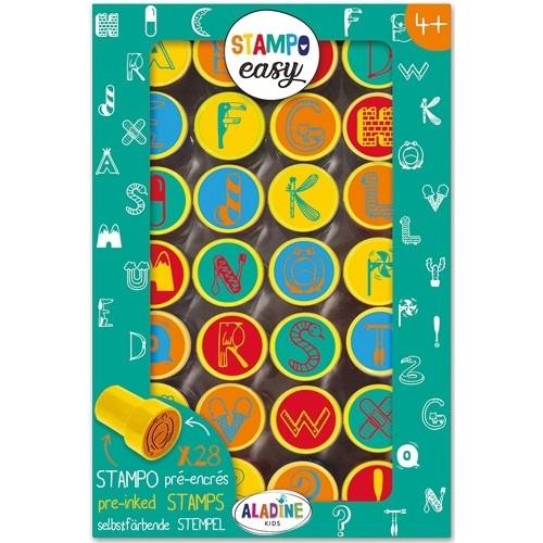 tampons pré-encrés Stampo Easy Alphabet